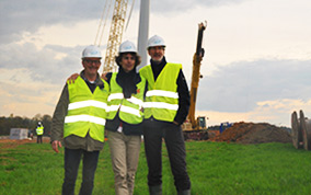 éolienne modave team photo